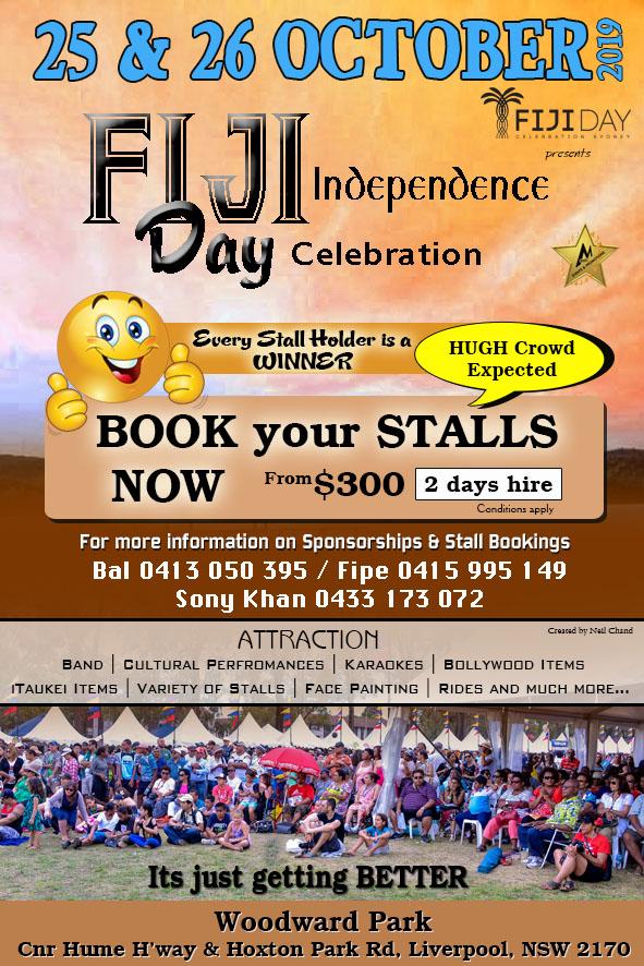 Book Stall Fiji Day Celebration